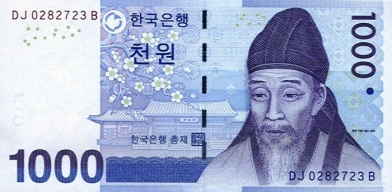 south-korea-1000-won