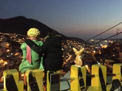 Vista nocturna desde Busan